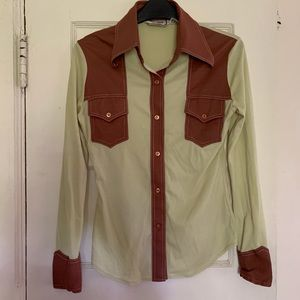 VINTAGE 70's Western Button Up